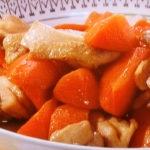 春にんじんと鶏肉の炒め煮