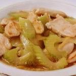 セロリと鶏肉の中華炒め