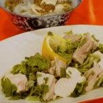 香菜レモン鶏&フォー