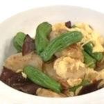 ホタテと卵のピリ辛炒め