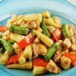 鶏と夏野菜の炒めもの