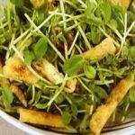 厚揚げと豆苗のサラダ