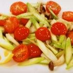 アスパラとミニトマトの洋風炒め