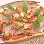 四角い手作りピザ
