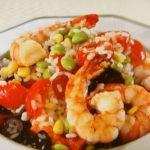 エビと枝豆のお米サラダ